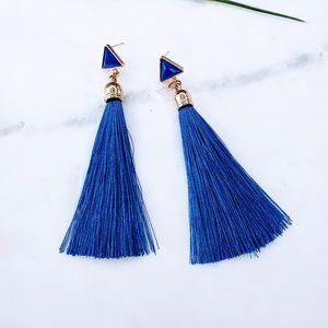 5 for $25 Royal Blue Color Tassel Fringe Earrings